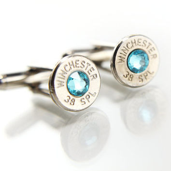 Bullet Cufflinks For Men - Father's Day Gift - Silver Cuff Links - Gifts For Men - Groomsmen Gifts  - Bullet Jewelry - Gift Ideas for Dad