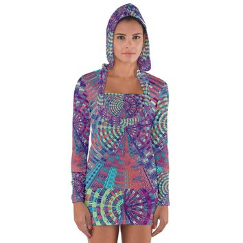 Gateway To Thelight Pattern 4 Long Sleeve Hooded T-shirt