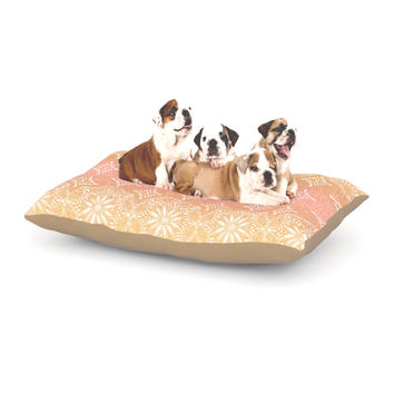 "Suzie Tremel ""Medallion Blush Ombre"" Pink Dog Bed"