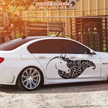 horse car hood decal horse Car Decals horse Car Truck horse Side Body Graphics Decal horse Sticker for car kikcar46