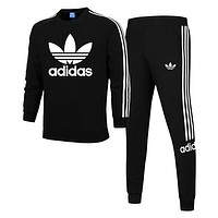Trendsetter Adidas Women Men Top Sweater Pullover Pants Trousers Set Two-Piece