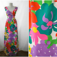 Vintage 1970s Malia of Honolulu Dress by mandylopandy on Etsy