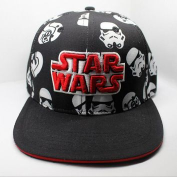 New Star Wars Cosplay Cap Black red Novelty storm troops unisex dress 3D embroidery Hat charms Costume Props Baseball cap