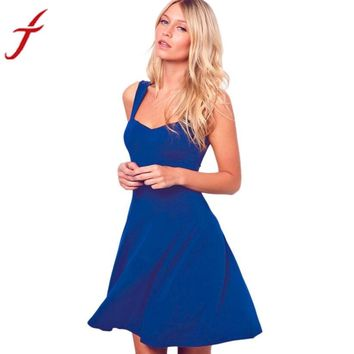 Summer Sexy Women Dress Loose Sleeveless Evening Party Short Solid 3 Colors Mini Dress clubwear Ladies vestidos #LSN