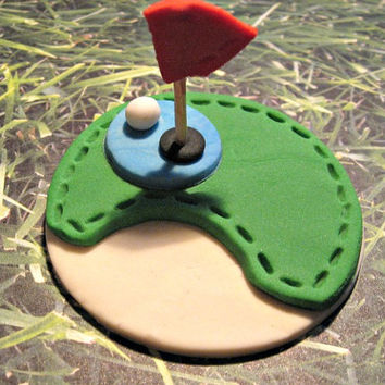 FORE! The perfect little Cupcake,Cake or Cookie Toppers for that special Guy or Gal in your life! Set of 12 (one dozen)
