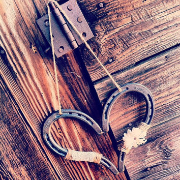 Rustic Wedding Heart Horseshoe Decoration Horseshoe Heart Good Luck Heart Horse Shoe Rustic Wedding Decor Barn Wedding
