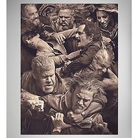 Sons of Anarchy Fight Scene Fleece Blanket - Spencer's
