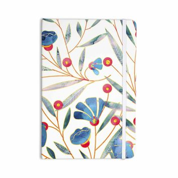 "83 Oranges ""Bluebella"" Blue White Nature Floral Illustration Watercolor Everything Notebook"