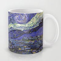 Starry Night, by Vincent van Gogh.  famous impressionism fine art landscape oil painting. Mug by NatureMatters