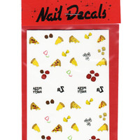 PIZZA PARTY NAIL DECALS - Default Title