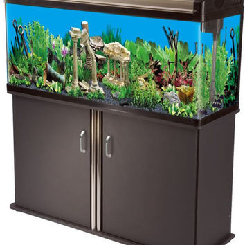 65 Gallon Aquarium Reef Fish Tank w/ T8 Lighting + Filtration System