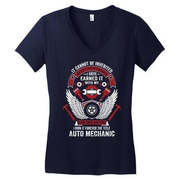 I Own It Forever The Title Auto Mechanic Women's V-Neck T-Shirt