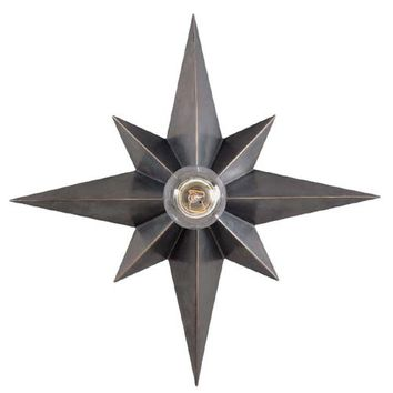 Visual Comfort and Company SC4000BZ Bronze Star Flush Mount Ceiling Light