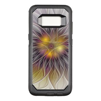 Luminous Colorful Flower, Abstract Modern Fractal OtterBox Commuter Samsung Galaxy S8 Case