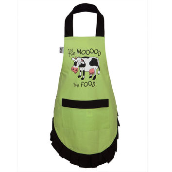 Cow Mood For Food Kid's Apron