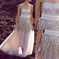 sequin prom dress, long prom dress, formal prom dress, custom prom dress, cheap prom dresses, tulle dress prom, tulle prom dress