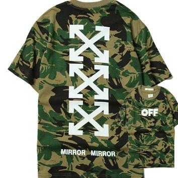 Couple Tops Camouflage Short Sleeve T-shirts [10199591175]