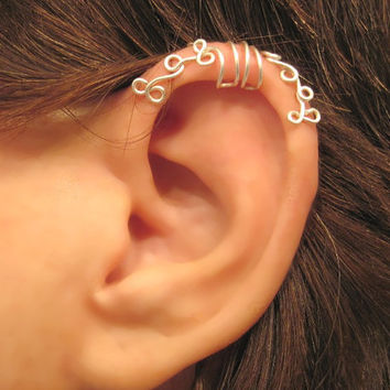 """No Piercing """"Curling Ivy"""" Cartilage Ear Cuff for Upper Ear Helix 1 Cuff COLOR CHOICES Wedding, Prom, Quinceañera"""