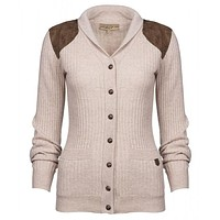 Aughrim Cardigan Sweater in Oatmeal by Dubarry of Ireland