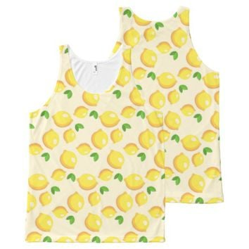 Lemon Pattern All-Over-Print Tank Top