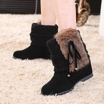 Sorel Wedge Winter Mid Calf Fur Boots