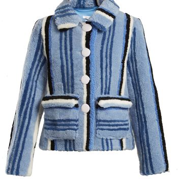 Lucy striped shearling jacket | Saks Potts | MATCHESFASHION.COM US