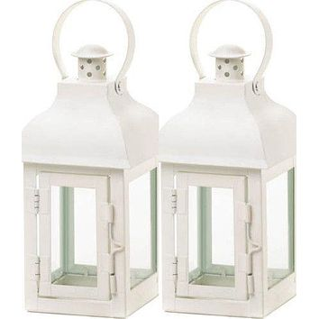 10 Terrace Small White Wedding Lanterns