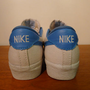 Vintage NIKE Tennis Shoes Canvas Women's Size 5 vtg 1980's athletic sports outdoor sportswear nike clothing sneakers