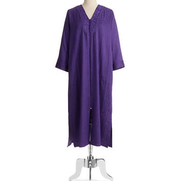 Miss Elaine Textured Patterned Robe