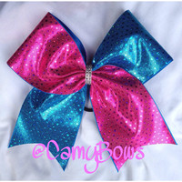 Cheer Bow Pink and Turquoise