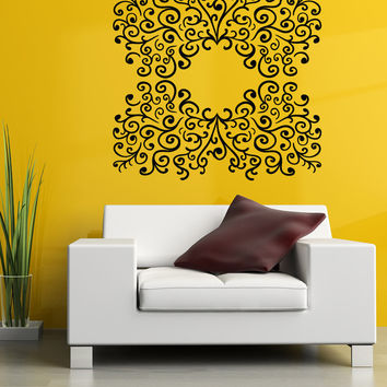 Vinyl Wall Decal Sticker Swirl Decor #OS_MB1024