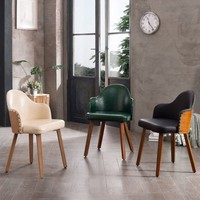 Corvus Metz Mid-Century Bamboo Accent Chair (Set of 2)