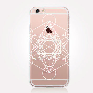 Transparent SacredGeometry iPhone Case - Transparent Case - Clear Case - Transparent iPhone 6 - Samsung S7 - Soft TPU - Gel Case - iPhone SE