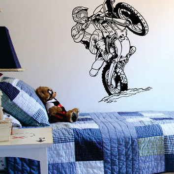 Dirtbiker Version 6 Motocross Design Sports Decal Sticker Wall Vinyl