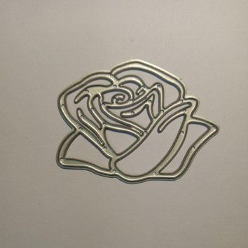 3Pcs Rose Leaves Leaf Clear Stamps Steel Embossing Craft Flowers Cut Die Stencil Folder Scrapbooking Metal Cutting Dies New 2018