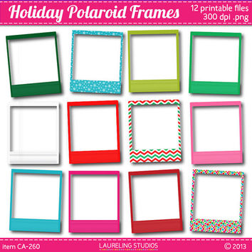 holiday scrapbook polaroid frame clip art scrapbooking supplies christmas clipart DIGITAL DOWNLOAD CA260