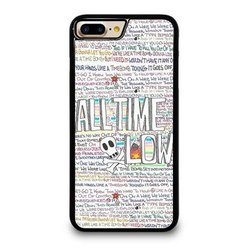 ALL TIME LOW WRITTING iPhone 4/4S 5/5S/SE 5C 6/6S 7 8 Plus X Case