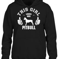 this girl loves her pitbull t shirt design 1 HOODIE