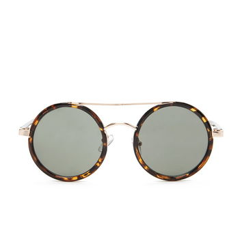 Round Brow-Bar Sunglasses | Forever 21 - 1000167999