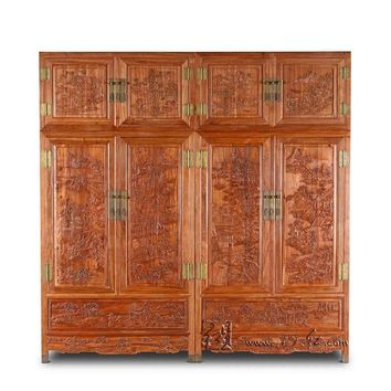 NEW Clothespress Rosewood Carven Bed Room Furniture Solid Wood Cabinet Wardrobe American Country Almirah Armoire Redwood Drawers