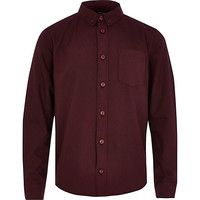 River Island Boys red oxford shirt