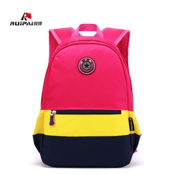 RUIPAI Kids Fashion Backpacks Schoolbag for Boys and Girls Candy Color Backpack Mochila Primary School Student Bag kids Bags