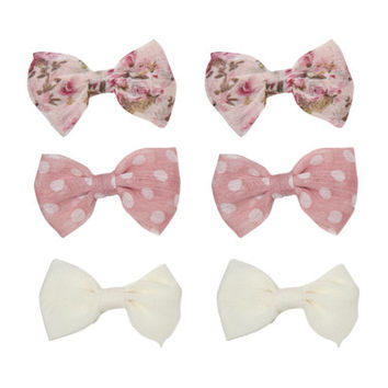 6 On Chiffon Floral Bows | Shop Accessories at Wet Seal