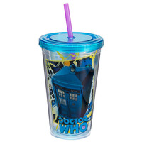 Doctor Who 18oz. Acrylic Travel Cup w/Straw