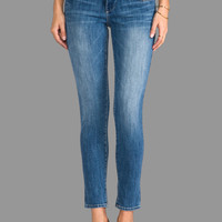 True Religion Chrissy Mid Rise Skinny in Soft Footprints