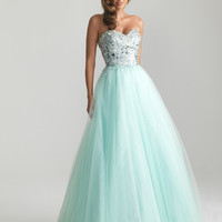Night Moves by Allure 2013 Prom Dresses - Water Beaded Tulle Sweetheart Prom Gown