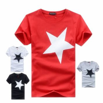 high quality 100% brand Exquisite contton men t-shirts t shirt printed fashion short sleeve t shirt [10312514179]