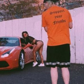 """Support Your Friends"" Tee (Orange)"