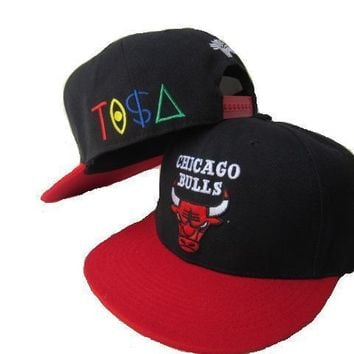 PEAPON Chicago Bulls New Era 9FIFTY NBA Hat Black-Red