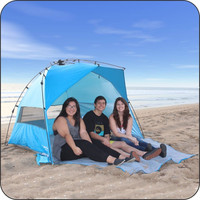 Instant EasyUp Family Beach Shade Tent Shelter Cabana with Carrying Case